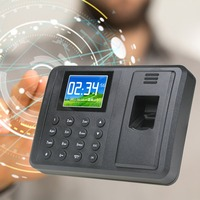 Fingerprint Time Attendance Clock Recorder Digital Electronic Reader Machine Universal 2 8 Inch TFT Sreen Display