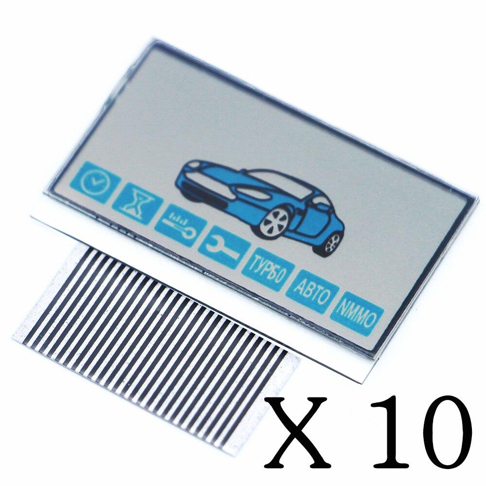 imágenes para Envios gratis 10 UNIDS A93 pantalla LCD cable flexible de control remoto Starline A93 A93 pantalla con Rayas de Cebra