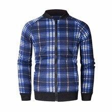 ZOGAA Men Hoodies Sweatshirts Fashion Classic Plaid Tracksuit Jacket Zipper Coat 2018
