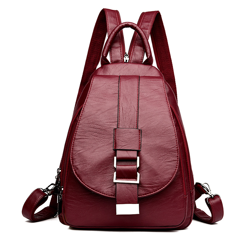Women Backpacks Leather Vintage Female Design Shoulder Bag Travel Multifunction Ladies Bagpack Mochilas School Bags Girls