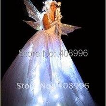 Светодиодный светящееся платье/платье для девочек/платье с подсветкой/юбка феи/Одежда для выступлений