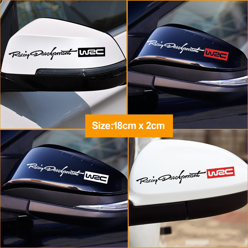 2Pcs/Lot Car Rearview Mirror Stickers WRC Rally Racing Stripe Car Rearview Mirror Sticker Auto Body Styling Stickers Accessories