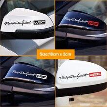 2 unids/lote espejo retrovisor Adhesivos para coche WRC Rally raya de automovilismo pegatina de espejo retrovisor de coche carrocería pegatinas de diseño de accesorios