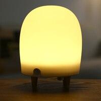Usb Led Lamp LED Patting Tap Night Light Lamp Timing Set Alarm Table Lamp Kids Lights Lamps