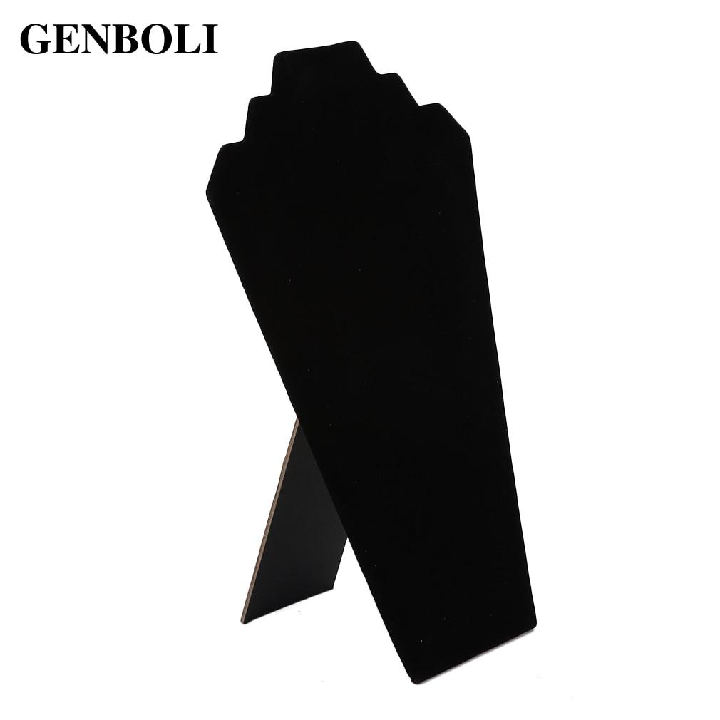 GENBOLI Jewelry Necklace Organizer Shelf Rack Necklace Stand Display Show Holder Jewelry Display Stand Velet Choker