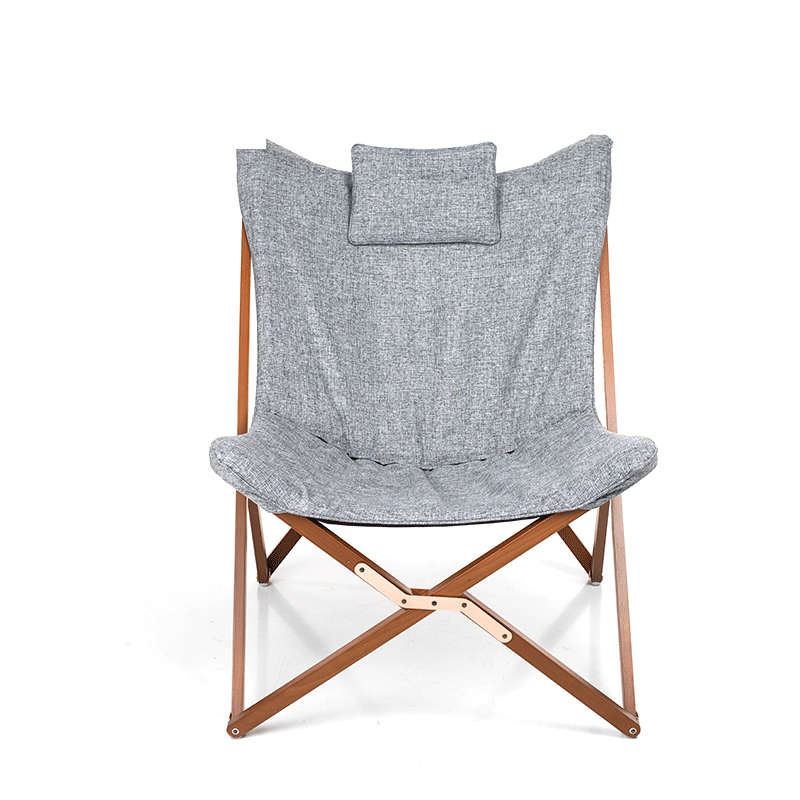 Folding Butterfly Chair Fabric Cushion Upholstery Living Room Furniture Modern Butterfly Lounge Leisure Chair Frame Solid Wood