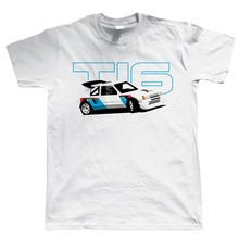 Military T Shirts MenS Short Sleeve Summer O-Neck 205 T16 Classic Group B Rally Car Gift For Dad Fathers Day Birthday Tee Shirt
