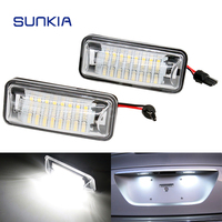 2Pcs Set SUNKIA Canbus Error Free White 24SMD LED Number License Plate Lights For Subaru BRZ