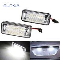 2Pcs Set SUNKIA Canbus Error Free White 24SMD LED Number License Plate Lights For Subaru BRZ