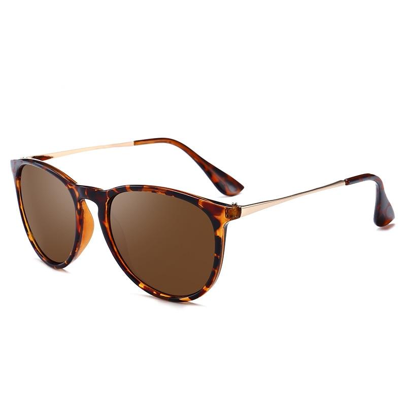 Unisex Brown Round Sunglasses Women Men Polarized Alloy Small Leg Sun Glasses For Women Males 2018 UV400 Eyewear Oculos Retro
