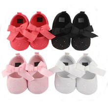 Hot Toddler Girl Crib Shoes Newborn Baby Leather Heart Bowknot Soft Sole Prewalker Sneakers s Shoes For Girl(China)