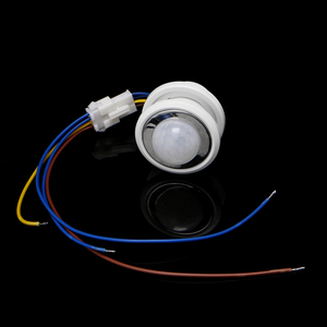 Image 4 - 2020 40mm LED PIR detektörü kızılötesi hareket sensörü anahtarı zaman gecikmesi ayarlanabilir ışık koyu