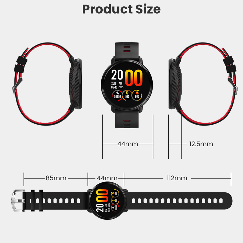 Virtoba A1 Bluetooth Smart Watch Men Women Full Touch Screen Activity Fitness Tracker Heart Rate Monitor 3D UI Smartwatch NEW in Smart Watches from Consumer Electronics
