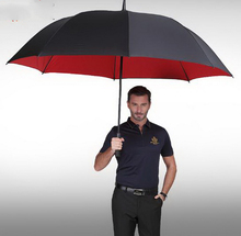 Ultra large/long-handled umbrella /male commercial double layer automatic umbrella/Nano membrane Non-slip handle/181133