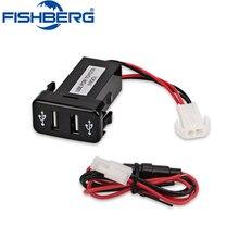 Dual USB Charger USB Adapter Socket Interface For Toyota VIGO 5v 4.2A Car 2 Port interface Dashboard Socket Car Modification