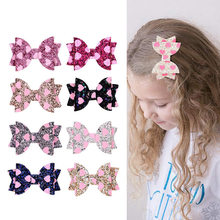 Unique girl hair clip Glitter Bow hairpin Barrettes hairgrips heart double star sequins headdress wedding party hair accessories(China)