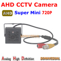 Pormotion! Supper Mini 720P AHD Camera 1/4''CMOS Sensor 1.0MP Indoor IR night vision HD security CCTV Camera  Plug and play