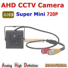 "Pormotion! Supper Mini 720P AHD Camera 1/4""CMOS Sensor 1.0MP Indoor IR night vision HD security CCTV Camera  Plug and play"