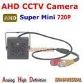 Pormotion! ceia Mini 720 P AHD Câmera 1/4 ''CMOS Sensor 1.0MP Indoor visão nocturna do IR HD Câmera de segurança CCTV Plug and jogar