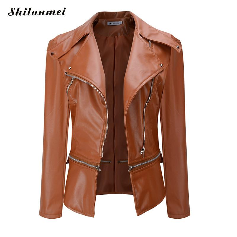 2019 Hot Sale Women Spring Autumn Suede Faux Leather Jackets Plus Size Ladies Fashion Matte Motorcycle Coat Biker Black Outwear