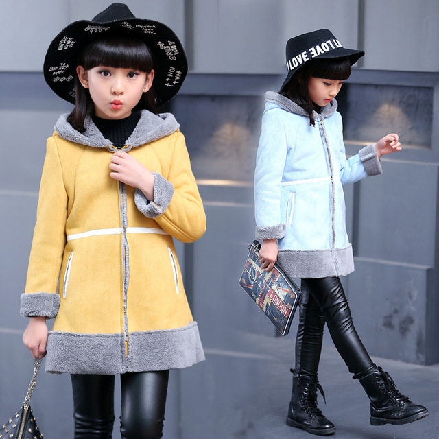8e2d12aa9 Fashion Kids Clothes Winter Faux Suede Coat For Girls Baby Clothes ...