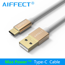 AIFFECT Aluminum Type C Cable USB-C to Standard USB High Speed Typc-C Data Charging Sync Cord Line Gold