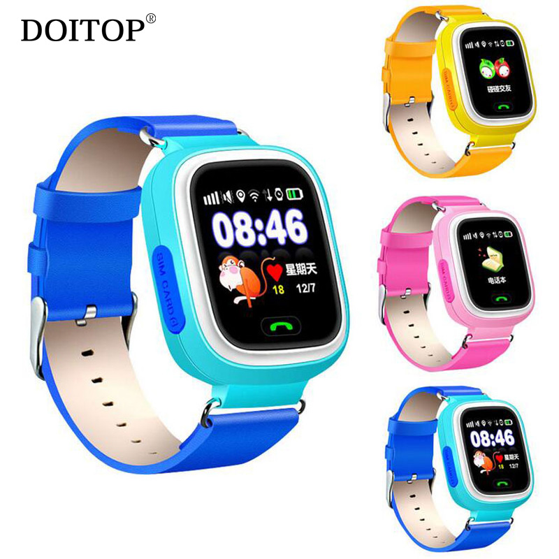 DOITOP Kids Safe Wifi GPS Smart Watch Touch Screen Wristwatch SOS Call Finder Location Tracker Kid Child Anti Lost Monitor O35