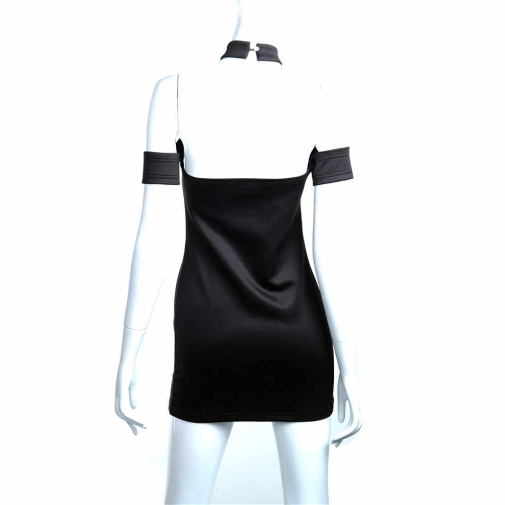 & 40 mulheres sexy bodycon vestido de festa elegante fora do ombro curto mini vestido preto casual bainha bandagem curto kleider damen