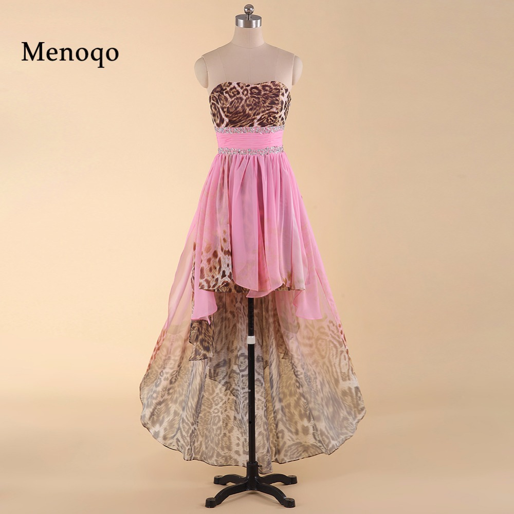 Tienda Online Impreso Leopard Pink High Low Vestido de Fiesta Nuevo ...