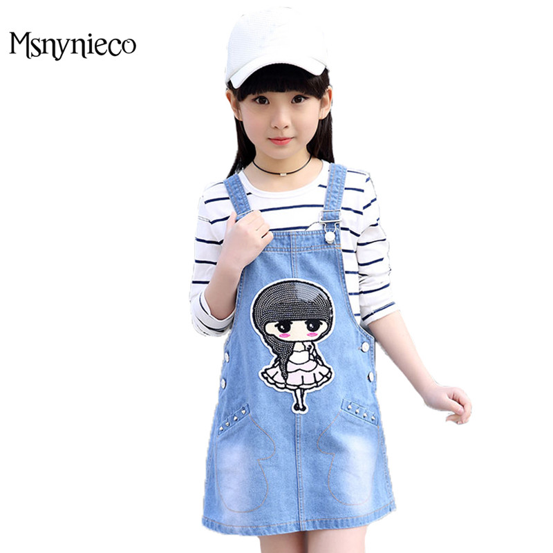 Girls Clothing Sets Long Sleeve Striped T-Shirts & Overalls Spring Kids Dresses For Girls Teen 4 6 8 10 12Years Children Outfits