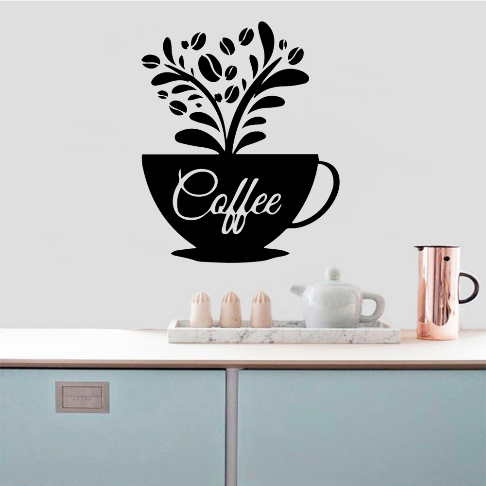 Hot Sale Coffee Wall Sticker Wall Decal Sticker Home Decor Pvc Wall Decals Room Decoration in Wall Stickers from Home Garden