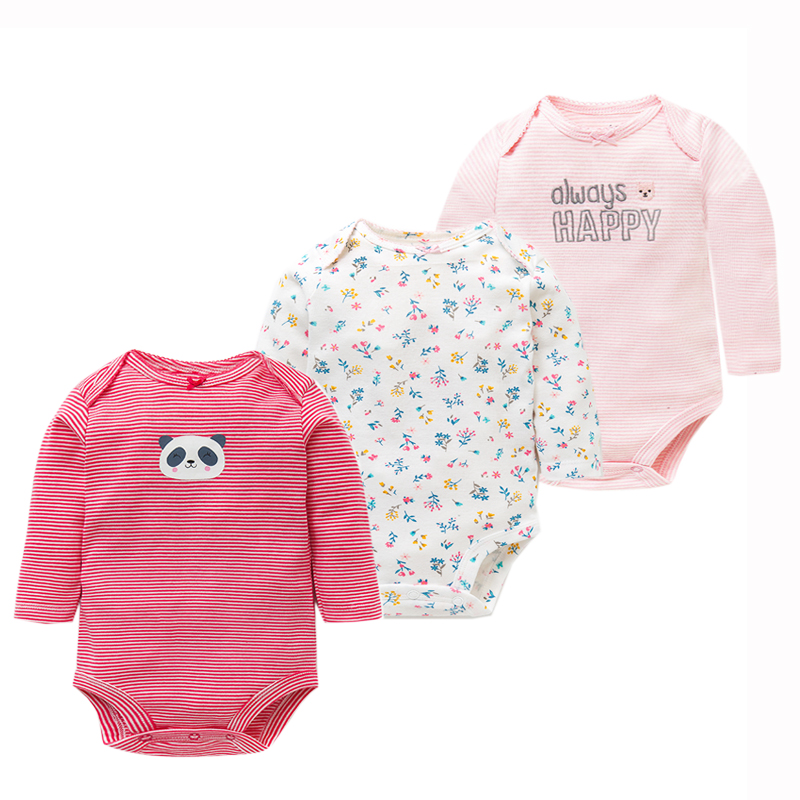 3Pcs/Lot Newborn Baby Bodysuits Set 100% Cotton Baby Boys ...