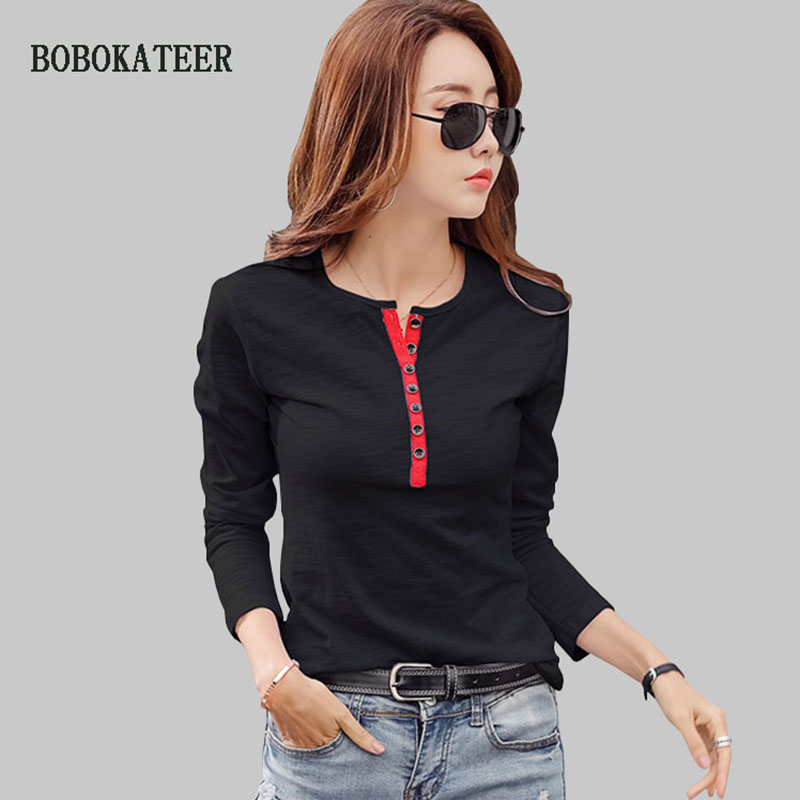 BOBOKATEER Long Sleeve Womens Tops And Blouses Woman Clothes Blusas Mujer De Moda 2019 Plus Size Blouse Women Shirts Ladies Tops