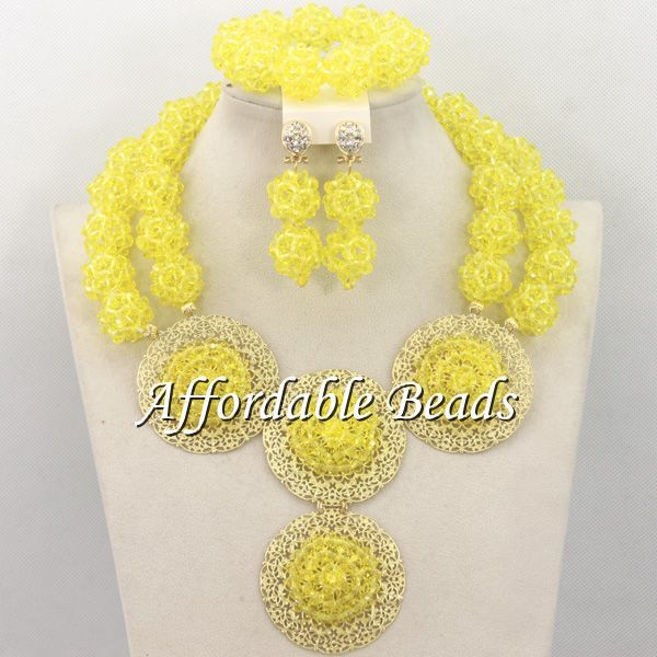 Gray African Wedding Beads Unique African Ladies Jewelry Set New Handmade Free Shipping BN196