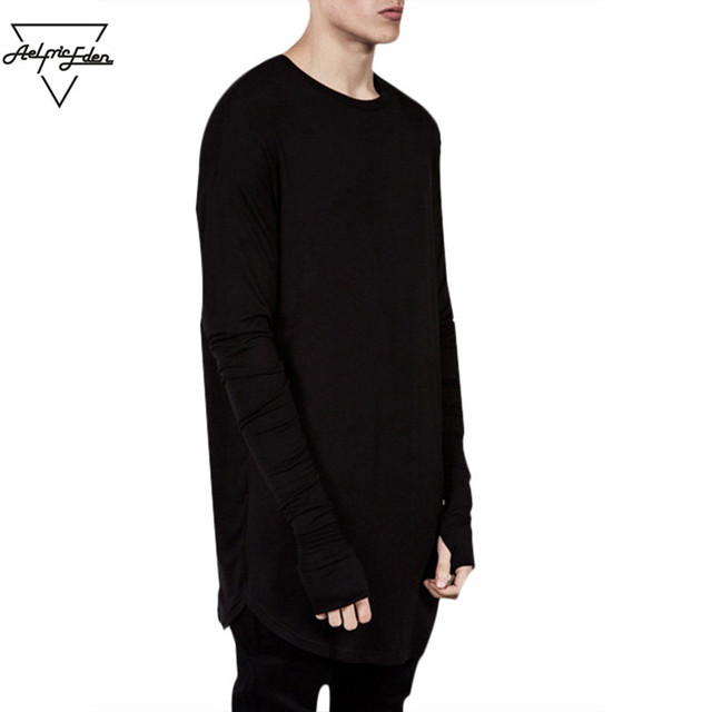Wholesale Thumb Hole Long Full Sleeve Hipster Tee kpop for