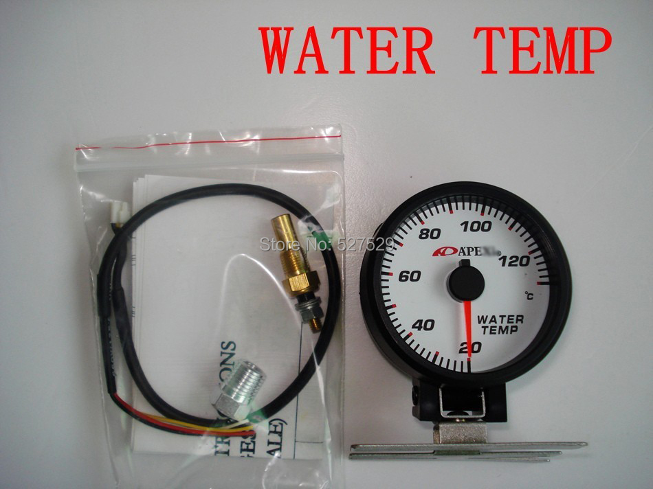 Universal 2 5 60mm White Face Blue Led Water Temperature Gauge Apexi Temp Auto Car Meter On Aliexpress Alibaba Group