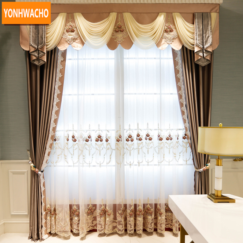 Blackout Curtains For Living Room Hotel European Simple: Custom Curtains Simple Modern Bedroom Living Room Solid