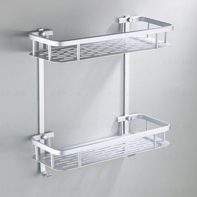 Bathroom Fixtures Constructive Aluminium Storage Rack Bathroom Shower Bath Holder For Shampoos Shower Gel Kitchen Home Balcony Shelf Hanging Rack Hook Bathroom Shelves