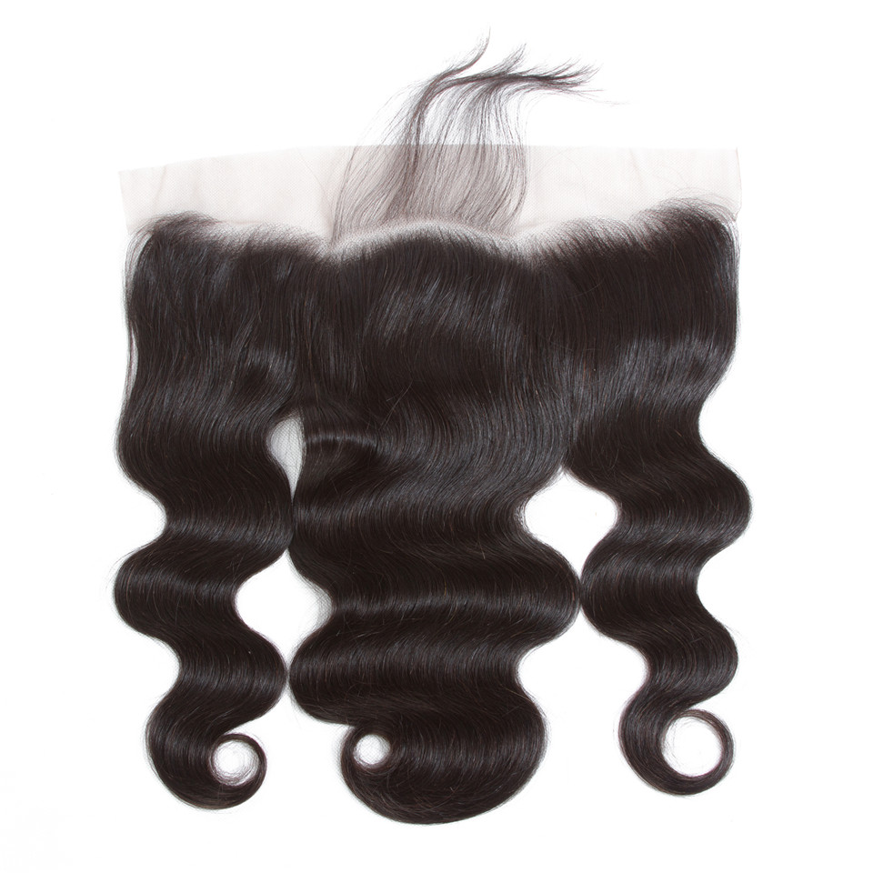 Image 4 - Sweetie Brazilian Body Wave 13X4 Ear To Ear Lace Frontal Closure With Bundles Non Remy Human Hair With Lace Frontal Baby Hair-in 3/4 Bundles with Closure from Hair Extensions & Wigs