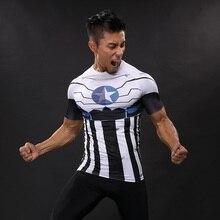 Новинка 2017 сжатия рубашка аниме супергерой Каратель Капитан Америка Супермен 3D футболка Фитнес Колготки для новорождённых База Слои футболки