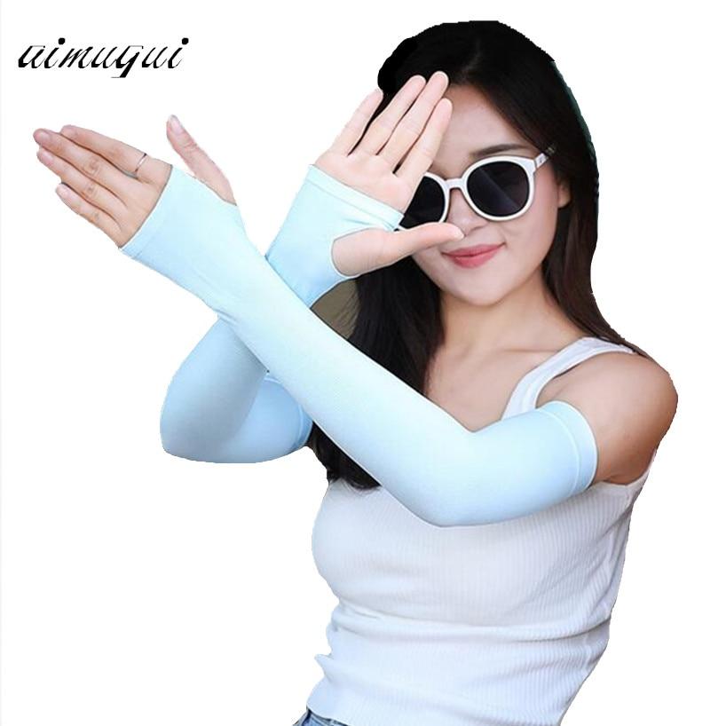 Long Gloves Scar Cover Arm Sleeves Ice Silk Sunscreen Arm Sleeves Effective Sun UV Protection Arm Warmer Half Finger Sleeves