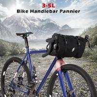 3 5L Bike Bag For Bicycle Frame Bag For Bicycle Handlebar Waterproof Cycling Handle Bar Bag MTB Road Bike Storage Pack