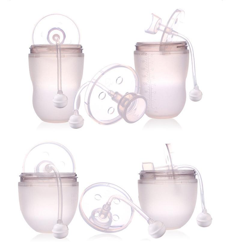 Soft silicone baby straw tube for 150 & 250 ml comotomo baby bottle,baby bottle accessory by Spekids