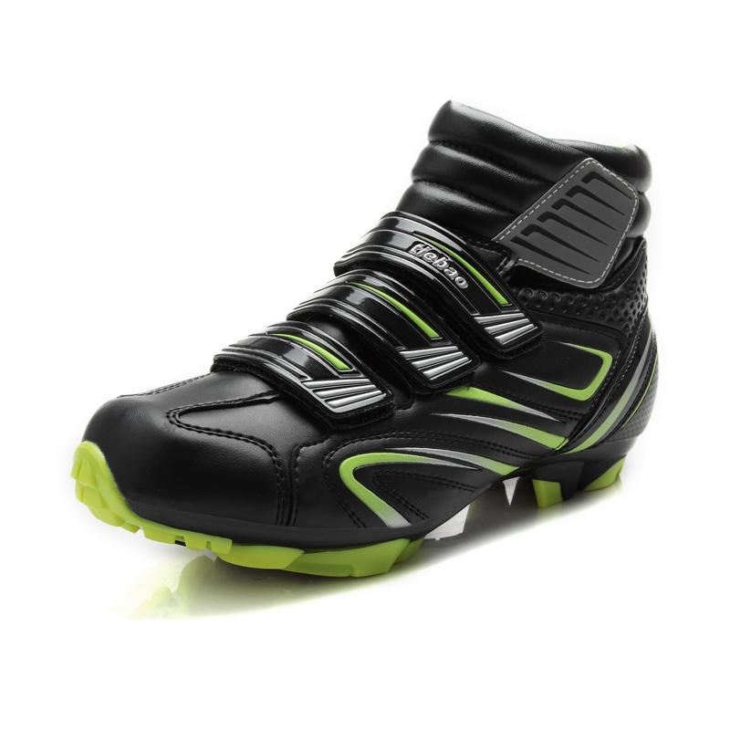 Prix pour TIEBAO S1430 Vente Chaude VTT Vélo Chaussures Vtt Chaussures High Cut Chaussures Automne et D'hiver Coupe-Vent Vélo Chaussures