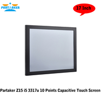Front Panel Display PC With LPT Parallel Port 17 Inch 10 Points Capacitive Touch Screen Intel