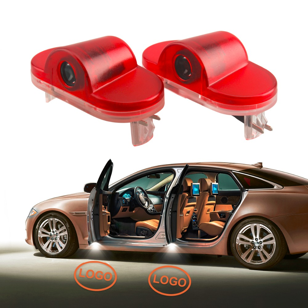 2Pcs Car LED Door Warning Light Courtesy Laser Projector Logo Light For Volkswagen VW Golf 4