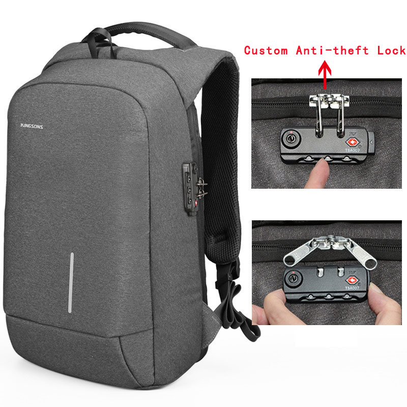 Water resistant Laptop Bag 15.6 inch for Women Men SchoolBag Notebook Backpack 13inch USB Charger Laptop Backpack with TSA LOCK for pc and mac nobletlocks ns20t xtrap notebook cable lock laptop lock 6feet