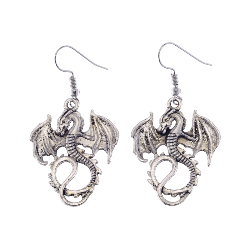 1pair Beautiful Retro Silver Dragon Dangly Earrings Handmade Women Ne231 In Drop From Jewelry Accessories On Aliexpress Alibaba