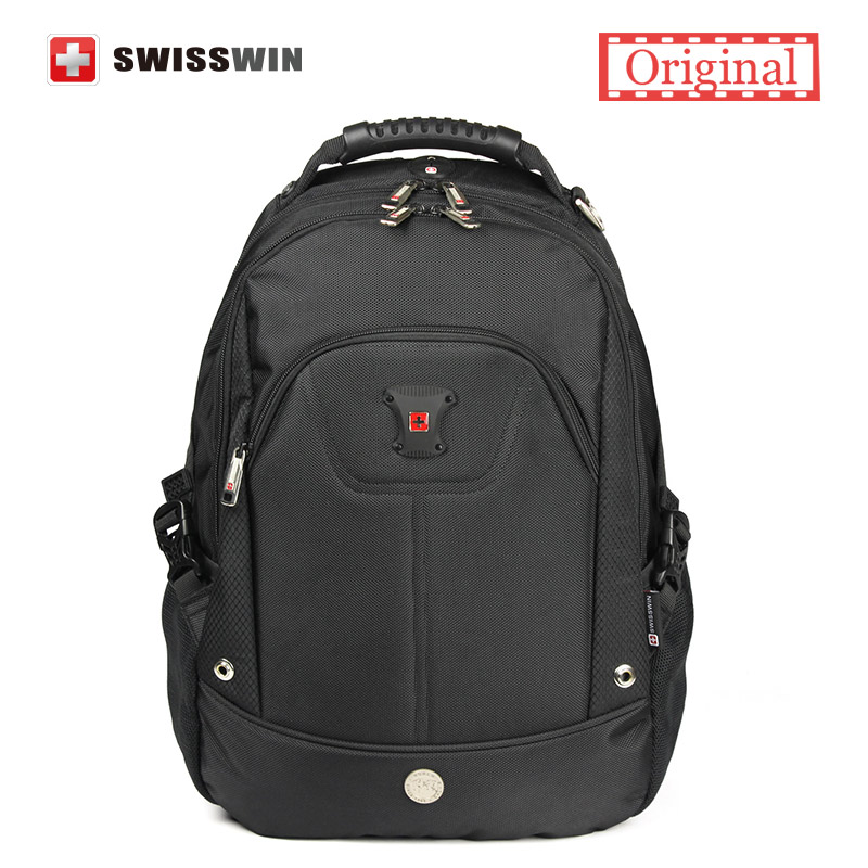 Swisswin Laptop Backpack Men Swissgear Waterproof Black Backpack Male Bagpack Student School Bag Sac a dos Airflow Bacpack
