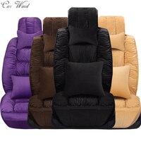 Car Wind Flocking Cloth Plush Universal Car Seat Cover For Lada Granta Fiat Palio Mazda 626